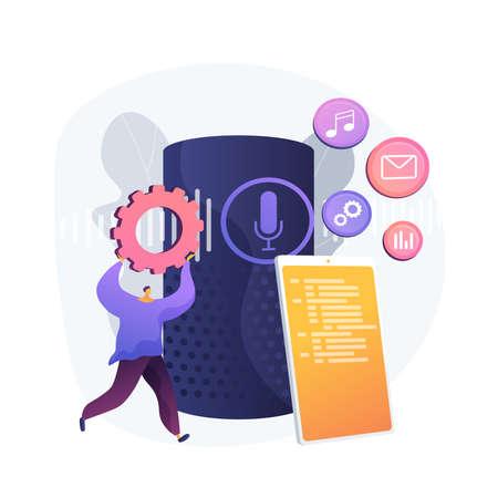 Spread various media. Choosing mobile menu settings. Manage files, arrange records, deliver content. Smartphone folder. Distribute multimedia. Vector isolated concept metaphor illustration.