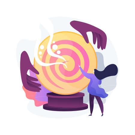 Fortune telling abstract concept vector illustration.