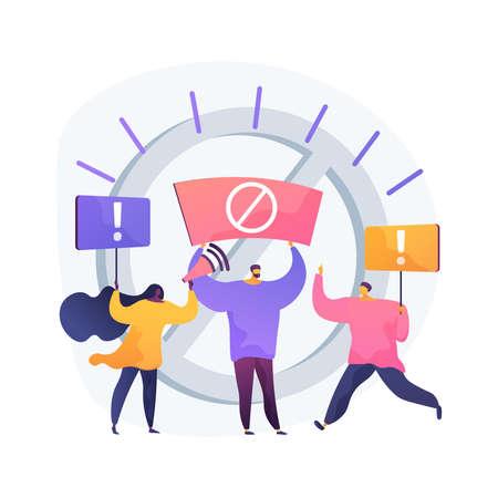 Public backlash abstract concept vector illustration. Stock Illustratie