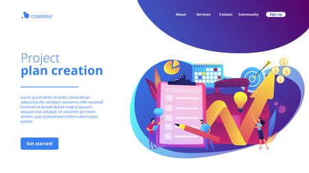 Profit growth strategy idea. Business development solution. Project planning, project plan creation, project schedule management concept. Website homepage landing web page template. Archivio Fotografico - 151075587