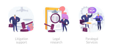 Legal outsourcing abstract concept illustrations. Vectores