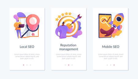 SEO management app interface template.