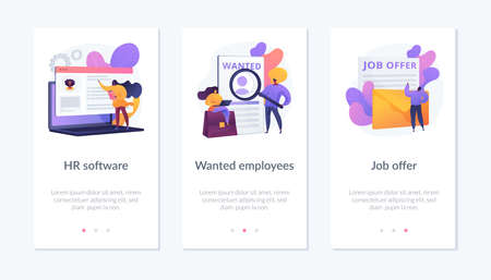 HR recruiter app interface template.