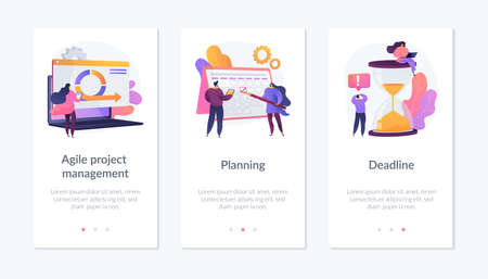 Agile estimating and planning app interface template. Vektorové ilustrace