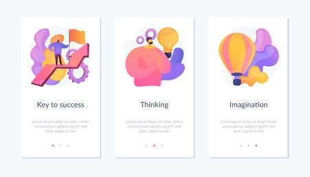 Business success app interface template.