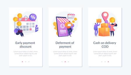 Payment programs app interface template.