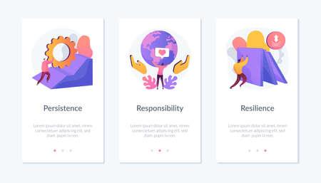 Personal skills development app interface template.