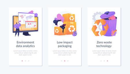 Big data eco technology app interface template. Illustration
