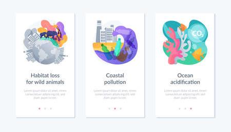 Habitat destruction app interface template.
