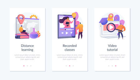 Off-campus learning app interface template.
