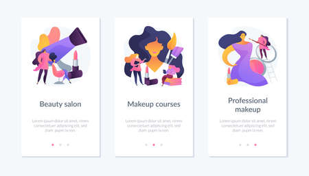 Makeup app interface template.