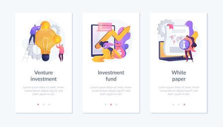 Investment in technologies webpage template. Ilustración de vector
