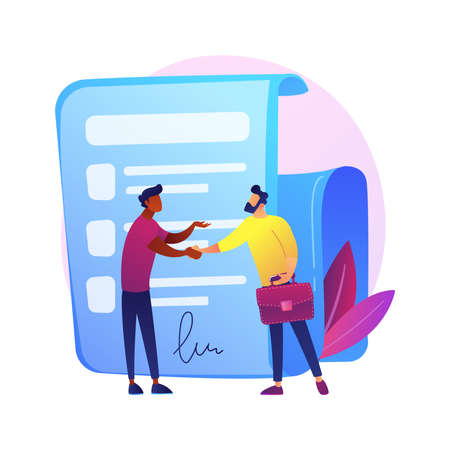 Signing contract vector concept metaphor