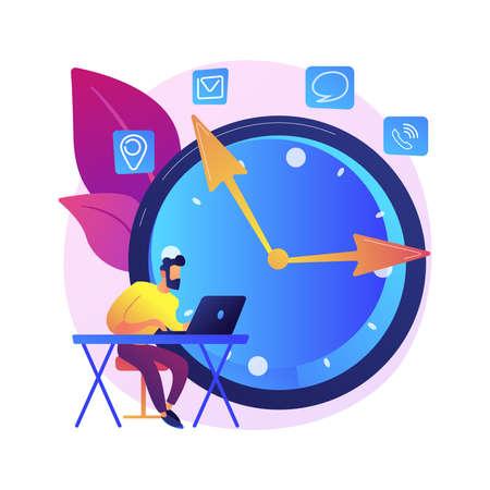 Deadline vector concept metaphor