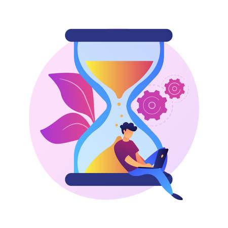 Deadline approaching vector concept metaphor
