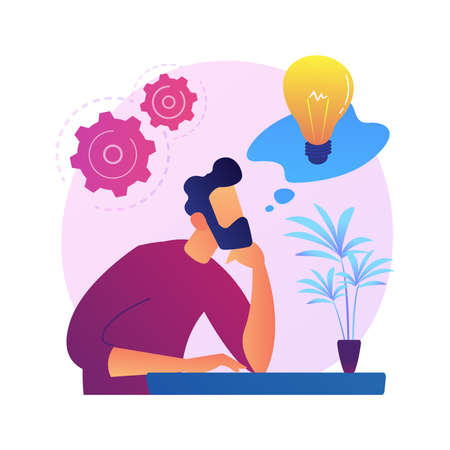 Innovative thinking vector concept metaphor Ilustracje wektorowe