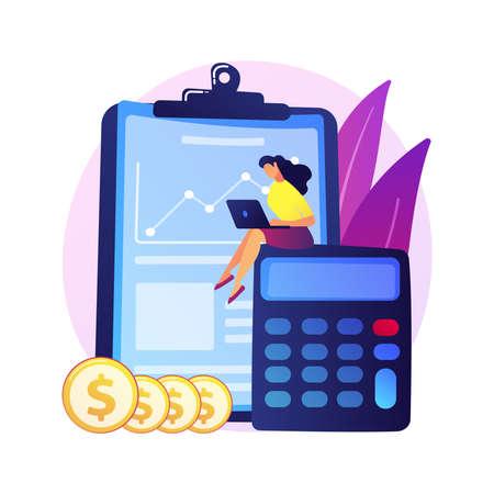 Financial audit vector concept metaphor