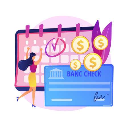 Bank check vector concept metaphor Vetores