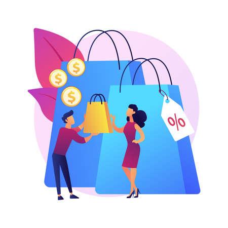Personal selling vector concept metaphor Ilustración de vector