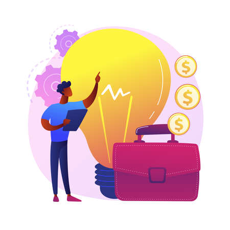 New business idea vector concept metaphor