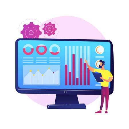 Social media dashboard vector concept metaphor Stock Illustratie