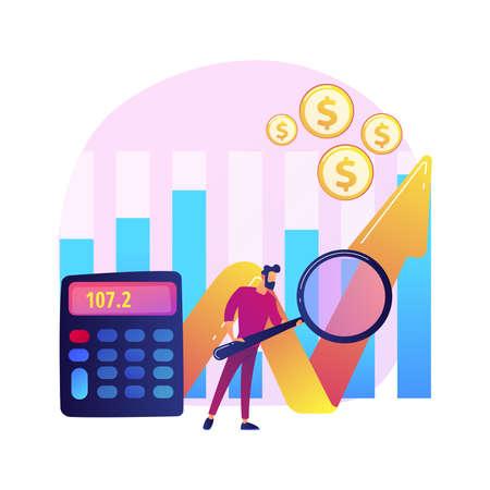 Stock market research vector concept metaphor
