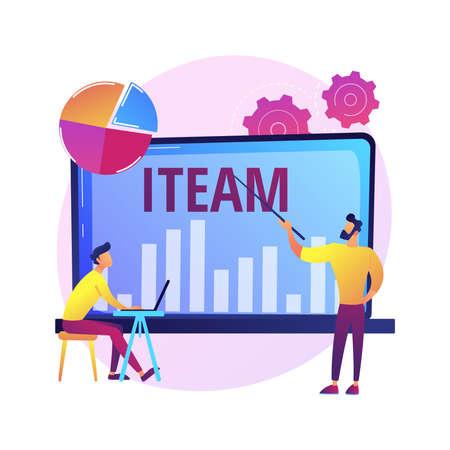 IT management courses vector concept metaphor
