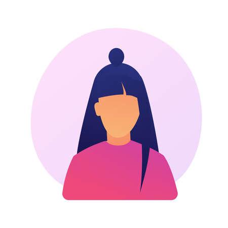 Young faceless woman portrait vector concept metaphor Illustration