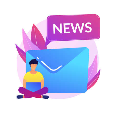 Newsletter subscription vector concept metaphor 向量圖像