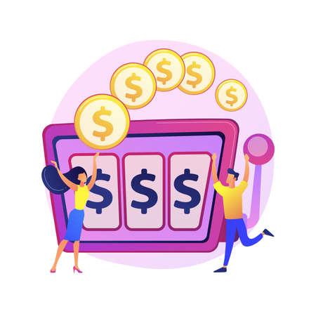 Jackpot vector concept metaphor Stock Illustratie