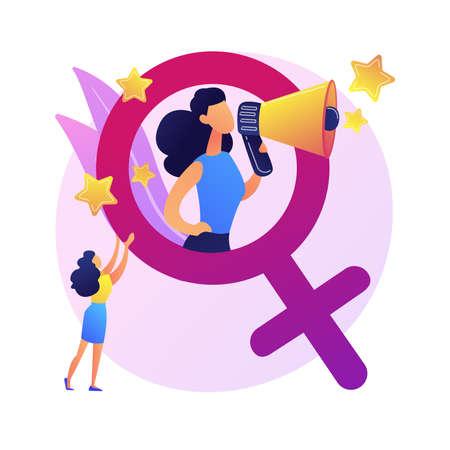 Feminism vector concept metaphor