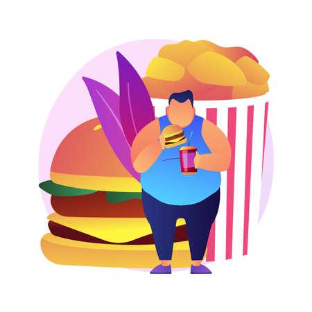 Fast food vector concept metaphor