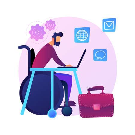 Employment of people with disabilities vector concept metaphor