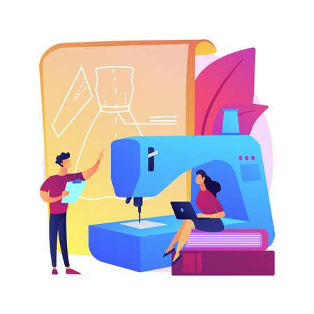Sewing classes vector concept metaphor