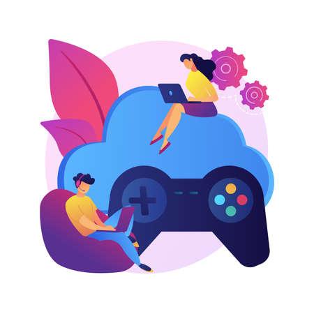 Console gamepad vector concept metaphor