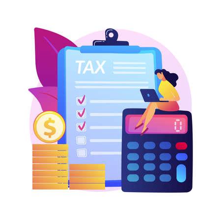 Monthly expense planning vector concept metaphor Ilustração Vetorial