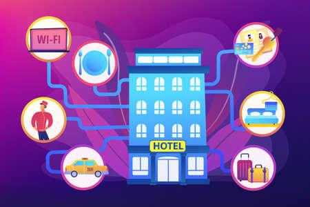 Hospitality management concept vector illustration 일러스트