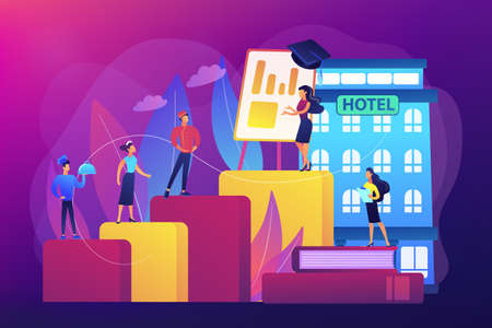 Hospitality courses concept vector illustration