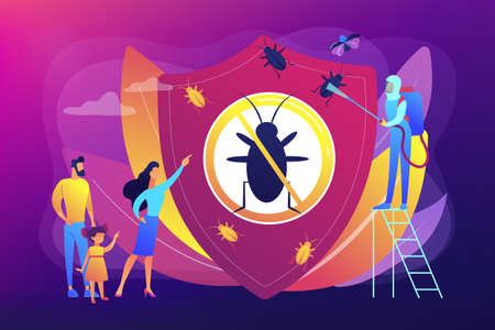 Home pest insects control concept vector illustration