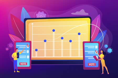 Electronic voting concept vector illustration