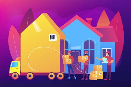 Moving house services concept vector illustration. Vecteurs