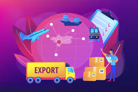 Export control concept vector illustration