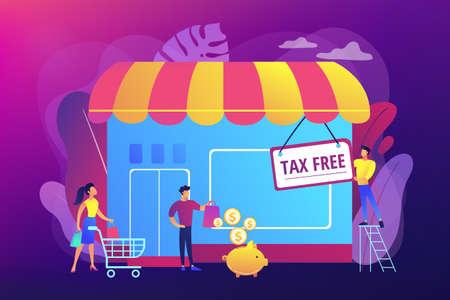 Tax free service concept vector illustration