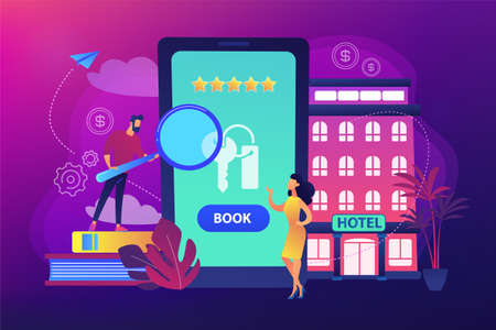 Booking hotel concept vector illustration