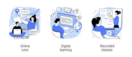 Personal learning abstract concept vector illustrations.