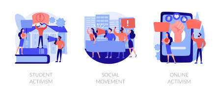 Political and social change abstract concept vector illustrations.