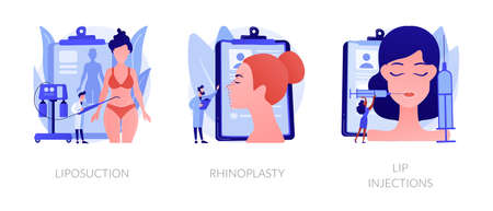 Beauty procedures abstract concept vector illustrations.