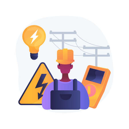 Electrician services abstract concept vector illustration.