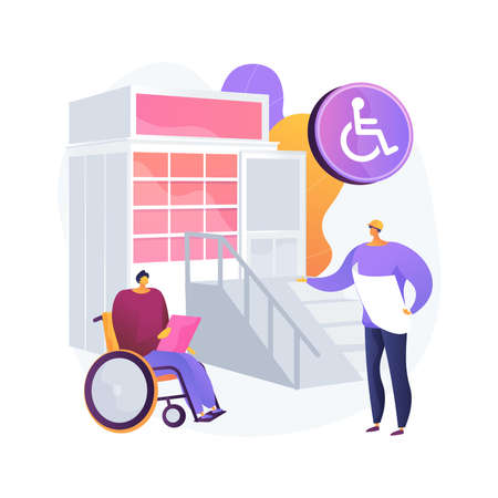 Accessible environment design abstract concept vector illustration.
