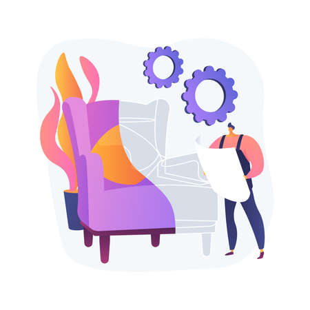 Custom furniture abstract concept vector illustration.